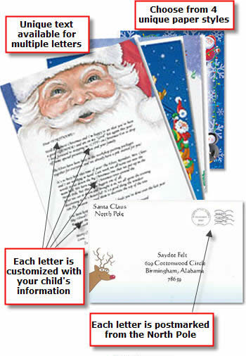 custom santa letters through Letters by Santa